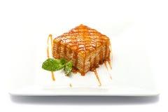 Торт меда куска пирога Стоковые Фотографии RF
