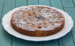 Торт миндалины вишни Стоковое фото RF