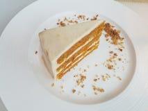 Торт моркови Vegan Стоковое Фото