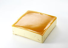 Торт мусса крупного плана оранжевый Стоковое Изображение RF