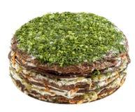 Торт мяса на белой предпосылке Стоковое Фото