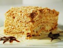 Торт Наполеона Стоковые Изображения