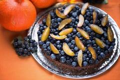 Торт на благодарение и хеллоуин праздника Стоковые Изображения