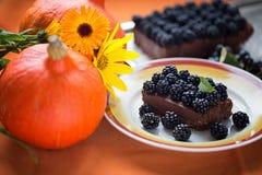 Торт на благодарение и хеллоуин праздника Стоковое фото RF
