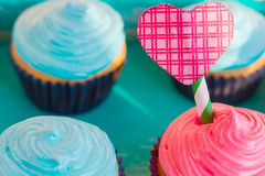 Торт на день ` s валентинки Стоковые Фото
