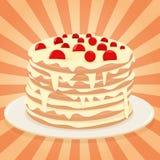 торт на плите Стоковая Фотография RF