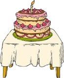 Торт на таблице Стоковое Фото