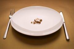 Торт на тарелке стоковая фотография