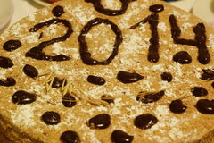 Торт 2014 Нового Года Стоковые Фотографии RF