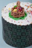 торт пасха предпосылки голубой Стоковые Изображения