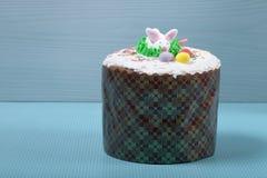 торт пасха предпосылки голубой Стоковые Изображения RF