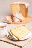 торт пасха цветет белизна Стоковые Фотографии RF