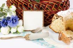 торт пасха цветет весна Стоковое Изображение RF