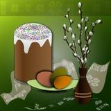 торт пасхи вербы Стоковая Фотография