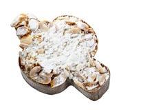 Торт пасхи итальянки в форме голубя Стоковая Фотография RF