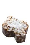 Торт пасхи итальянки в форме голубя Стоковые Фото