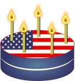 торт патриотический иллюстрация вектора