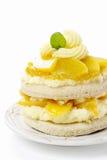 Торт персика слоя Стоковое Изображение