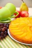 Торт персика Стоковая Фотография RF