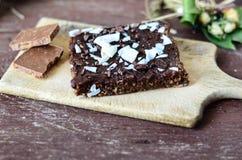 Торт пирожного гайки шоколада Стоковое Изображение RF