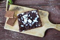 Торт пирожного гайки шоколада Стоковые Изображения RF