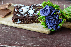 Торт пирожного гайки шоколада Стоковые Изображения