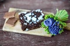 Торт пирожного гайки шоколада Стоковое фото RF