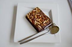 Торт пирожного на плите Стоковые Фотографии RF