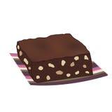 Торт пирожного шоколада с гайками Стоковые Изображения