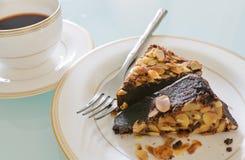 Торт пирожного шоколада с миндалиной Стоковые Фотографии RF