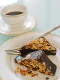 Торт пирожного шоколада с миндалиной Стоковые Фото