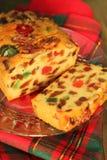 Торт плодоовощ рождества стоковое изображение rf