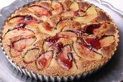 Торт покрытый с кусками груши Стоковое Изображение
