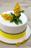 Торт покрытый с mastic Стоковое Фото