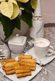 Торт помадки наслоенный с составом рождества кофе Стоковые Фото