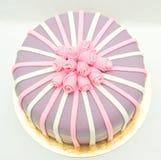 Торт помадки дня рождения стоковая фотография rf