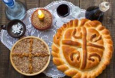 Торт праздника традиционный Стоковая Фотография RF