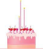 Торт праздничного розового торта праздничный розовый Стоковое Изображение
