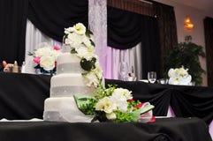 Торт приема по случаю бракосочетания Стоковая Фотография RF