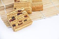 Торт плодоовощей слоя на циновках Стоковое Фото