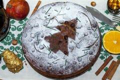 Торт плодоовощ рождества Стоковые Изображения