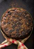 Торт плодоовощ рождества стоковое изображение