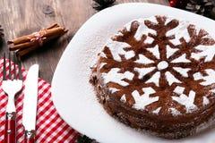 Торт рождества шоколада Стоковое Фото