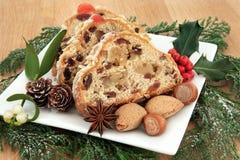 Торт рождества Stollen стоковое изображение rf