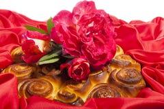 Торт роз на день матери Стоковые Фото
