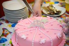 Торт сирени дня рождения Стоковая Фотография