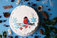 Торт сливк пряника рождества Стоковая Фотография RF