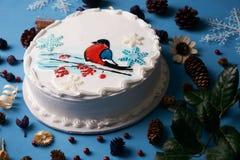Торт сливк пряника рождества Стоковые Фото