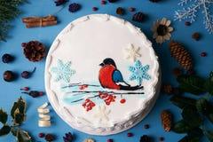 Торт сливк пряника рождества Стоковая Фотография