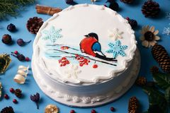 Торт сливк пряника рождества Стоковое Изображение